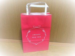 コンビニバレンタインラッピング紙袋