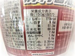 コンビニカップ麺新作成分表示