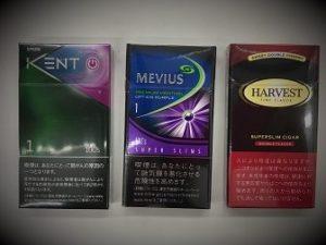 女性タバコ銘柄サイズ比較